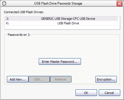 USB Pendrive protected by Master Password