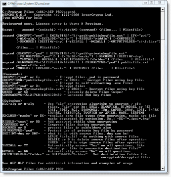 command line tool for encryption of file