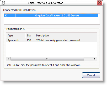 How to use USB sticks as passwords vault