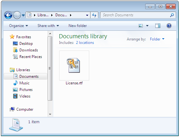 Encrypted documents in Windows Explorer