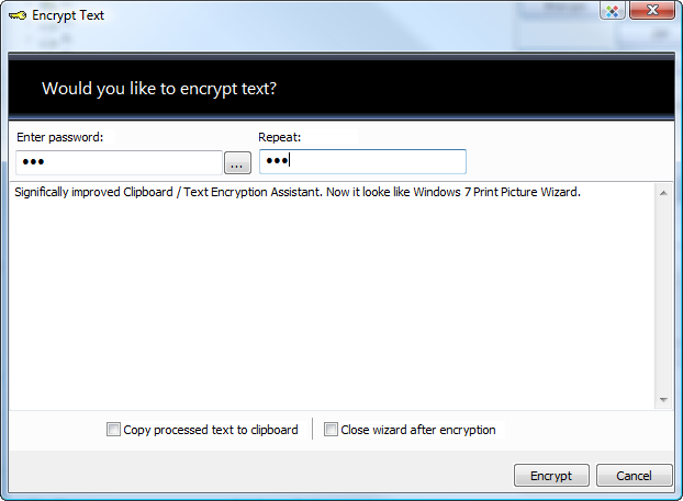 AES text encryption