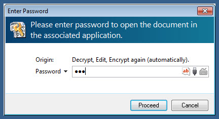 decrypt, edit and encrypt again