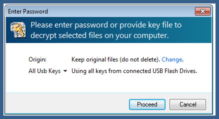 possibility to use all decryption keys located on usb flash drives