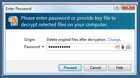 decryption file password