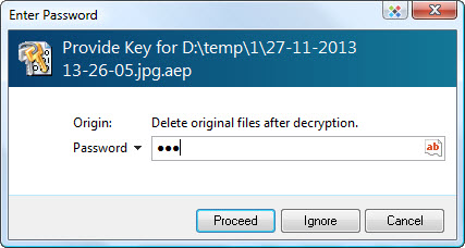 file decryption password