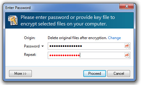 red password confirmaiton password field