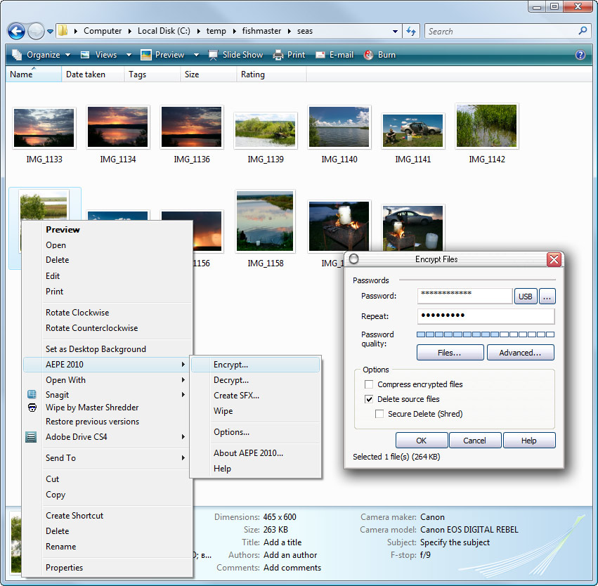 Encryption for Windows Explorer